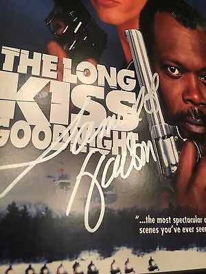 Samuel L Jackson signed The Long Kiss Goodnight DVD Autographed