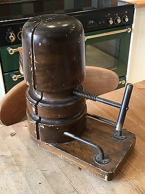 ANTIQUE LATE VICTORIAN WOODEN HAT STRETCHER SHOP DISPLAY MILLINERS c1900