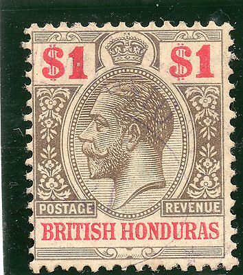 British Honduras 1913 $1 SG 108 very fine used. Cat £70
