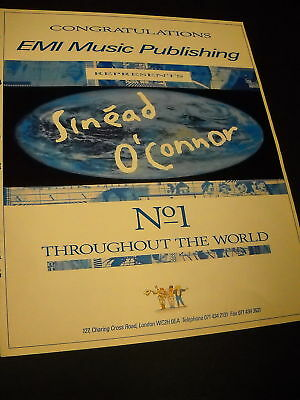 SINEAD O'CONNOR #1 Throughout World 1990 PROMO AD mint