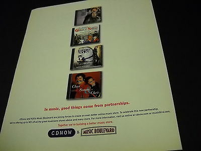 SIMON & GARFUNKEL Sonny And Cher other duos 1999 PROMO DISPLAY AD mint cond