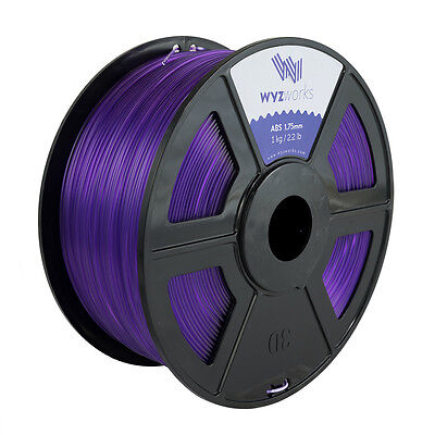 WYZwork 3D Printer Premium ABS Filament 1.75mm 1kg/2.2lb - Translucent Purple