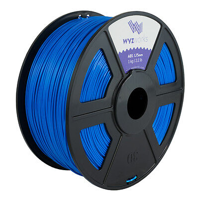 WYZwork 3D Printer Premium ABS Filament 1.75mm 1kg/2.2lb - Blue