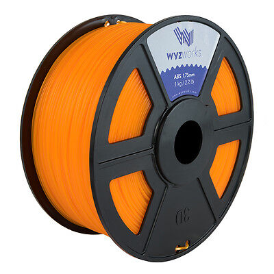 WYZwork 3D Printer Premium ABS Filament 1.75mm 1kg/2.2lb - Translucent Orange
