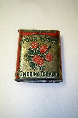 Antique Four Roses smoking tobacco tin