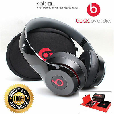 Beats By Dr. Dre Solo Hd Noise Cancelling On Ear Headphones - Black/red