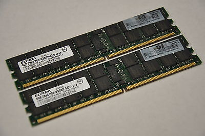 HP BL465c/BL685c DL385/585 G2 G5 Server 8GB (2x4GB) RAM Kit PC2-5300P 408854-B21
