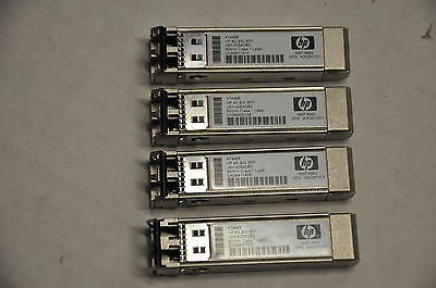 1 Lot of 4 HP A7446B 4GB Short Wave Single Pack SFP Transceiver 405287-001