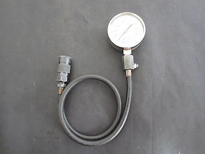 SNAP ON TOOLS COMPRESSION TESTER GAUGE - 0 to 250 PSI - GOOD CONDITION!