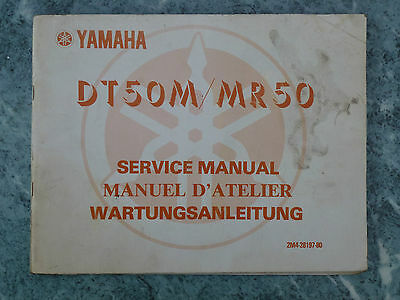 Yamaha Dt50M Mr50 Service Manual 2M4-28197-80