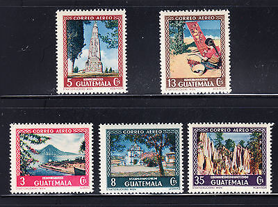 Guatemala 1950 Tourism Sc C166-C170 Complete Mint Never Hinged