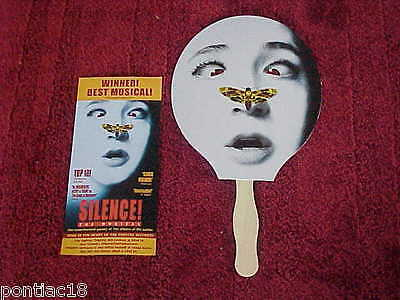 SILENCE THE MUSICAL FLYER AND HAND FAN The Elektra Theatre New York