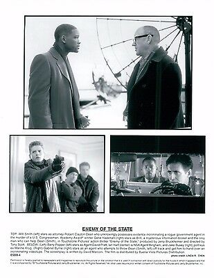 1998 Enemy Of The State Unsigned Glossy 8x10 B&W Movie Promo Photo Will Smith