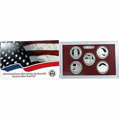 2010 US America the Beautiful Quarter Silver Proof Set