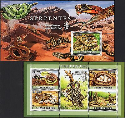 St.Tome 2007 - Snakes/Animals/Nature/Dessert.. SS/MS MNH** (AI)+2