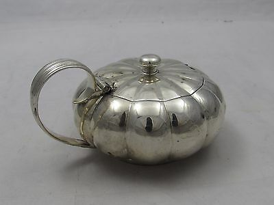 Superb Silver Mustard Condiment Pot George Iv Rebecca Emes Edward Barnard 1823