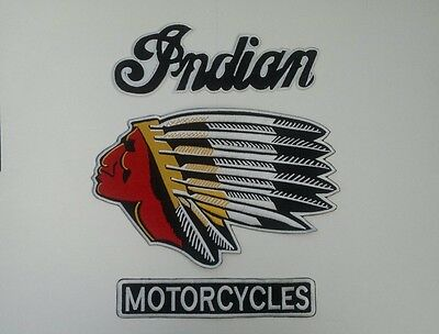 Indian motorcycle 3 piece profile back patch A BEAUTY.NEW