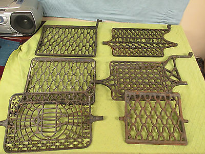 Antique Lot Of 6 Sewing Machine Treadles