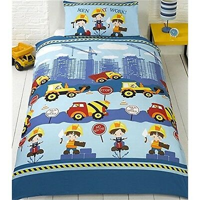 Tractor Construction Truck Bed Linen - single Duvet Cover - Single Set Bedding