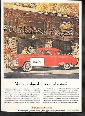 Studebaker Starlight Coupe Red For 1948 Vision Produced This Car Of Vision Ad