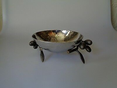 Pre-Owned Michael Aram Olive Tree Leaves Branch Snack Nuts Candy Dish Bowl
