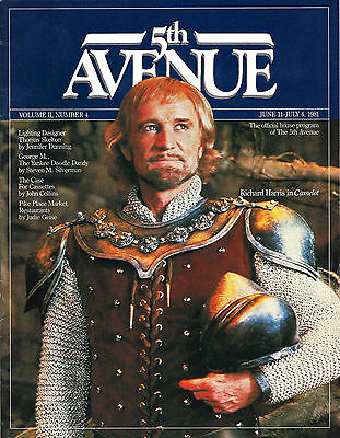 "Richard Harris ""CAMELOT"" Meg Bussert / Lerner & Loewe 1981 Seattle Program"