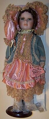"SHOW STOPPER'S ""LARISSA""- COLLECTION ECHO PORCELAIN DOLL - R435 - 17"" w/ PARASOL"
