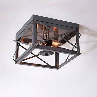 Country tin new double folded bar tin open ceiling light / nice