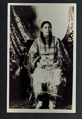 Mint Real Picture Postcard Native American Indian Squaw Woman
