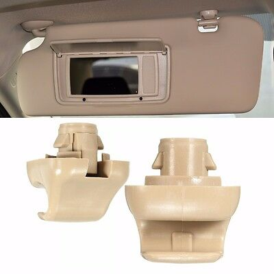 2Pcs SunVisor Clips For Honda CR-V Civic Accord Odyssey 88217-S04-003ZA Beige