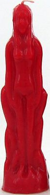 RED FEMALE RITUAL CANDLE Wicca Witch Pagan Goth Occult