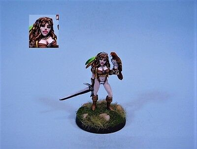 Reaper painted miniature cute female Ranger (30 day listing)