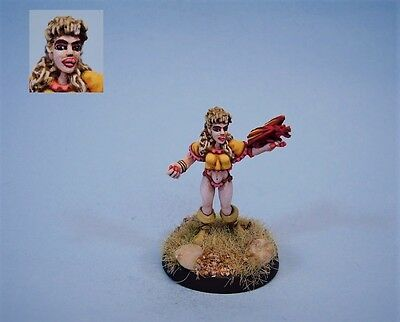 Ral Partha painted miniature cute Female Dragon mage (30 day listing)