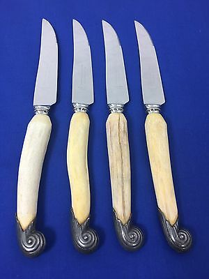Vintage William Adams Stag Handle Steak Knives Sheffield England Set of 4