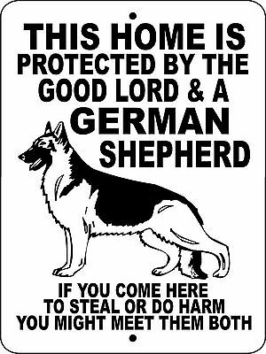 "GERMAN SHEPHERD DOG SIGN,NO TRESPASSING,9""x12"" Aluminum,WARNING,GATE,GLGS1S"
