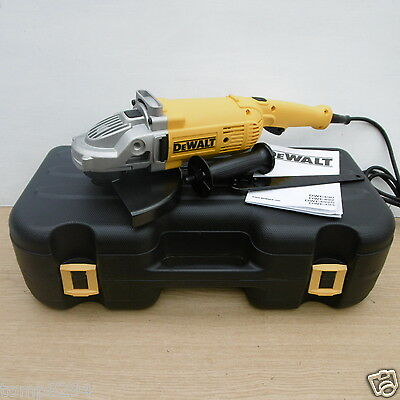 "Dewalt Dwe492K 9"" 230Mm 2200Watt Angle Grinder + Carrying Case 110V"