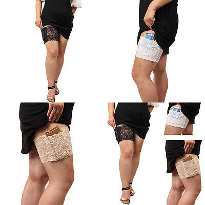 Thigh Bands with pocket Women Fashion   Sock Anti-Chafing Non Slip Lace Elastic