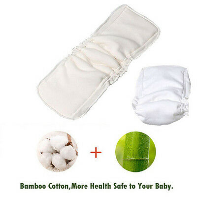 Baby Diapers Washable 5Layers Cotton Cloth Charcoal Bamboo Nappy Insert Reusable