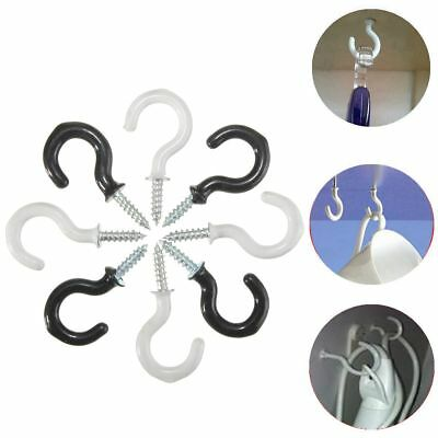 25pcs 30mm Screw In Cup Hook Ring Wall Hanging Plastic Coated Holder Hanger