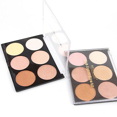6 Color Beauty Makeup Powder Glow Contour Kit Bronzer Highlighter Palette Makeup