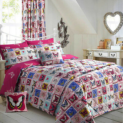 Butterfly Maison Bedding King SIze Duvet Quilt Cover & Pillowcase Girls Bed Set