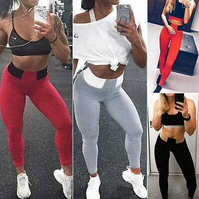Women Stretch Sports High Waist Skinny Pants Yoga Trousers Gym Fitness Leggings