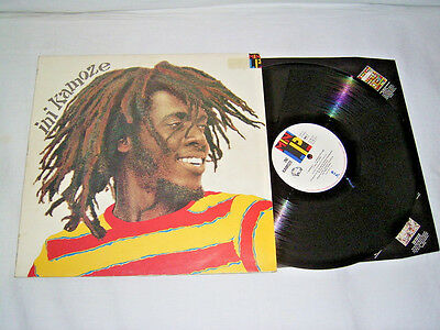 LP - Ini Kamoze - UK 1984 Reggae Mini LP # cleaned