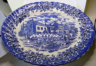 Grindley blue and white serving platter