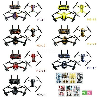 Waterproof PVC Stickers Decal Skin Wrap Protector For DJI Mavic Pro Drone Quad