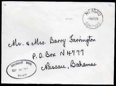 BAHAMAS: (13840) GOVERNMENT HOUSE postmark/cancel/cover