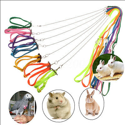 Adjustable Ferret Harness Baby Animal Rabbit Hamster Rat Mouse Leash Lead Rope