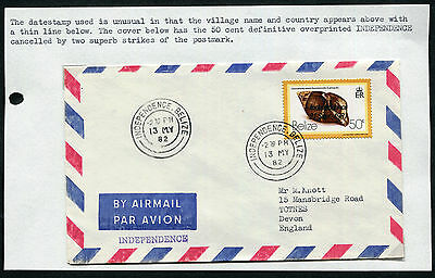 BELIZE: (13221) purple INDEPENDENCE cancel/cover