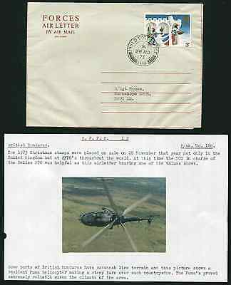 BELIZE: (14093) FPO 188 cancel/Forces Air Letter