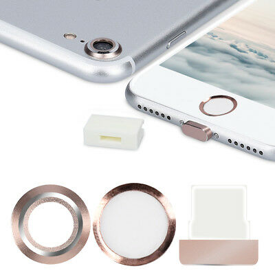 Smartphone Dust Protective Set Für Apple Iphone 7 8 Film Foil Home Button Dock